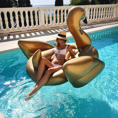 Swan Water Inflatable Floating Bed