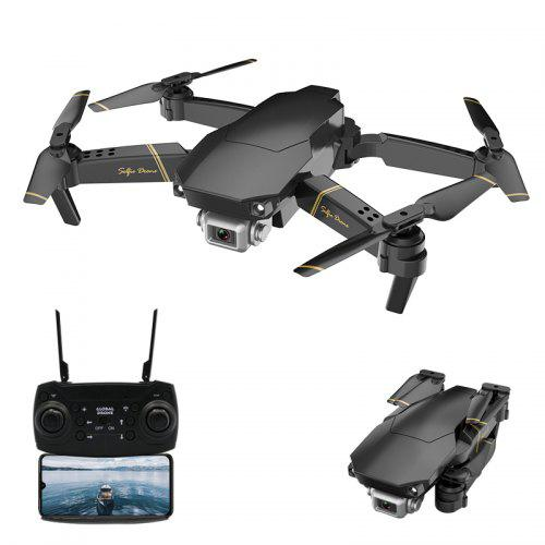 Gearbest GlobalDrone GD89 Foldable RC Drone - RTF - Black 1080P WiFi with optical flow module with Gravity Sensing / VR Function