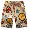 Shorts casual stampati 3D da uomo con coulisse in vita - MULTI COLORI-H
