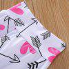 1261 Cartoon Letters Cotton Print Cloths Suit for Boys and Girls - WHITE