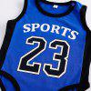 Sports Baby Clothes Basketball Number 23 Style Romper Climbing Suit - DEEP BLUE