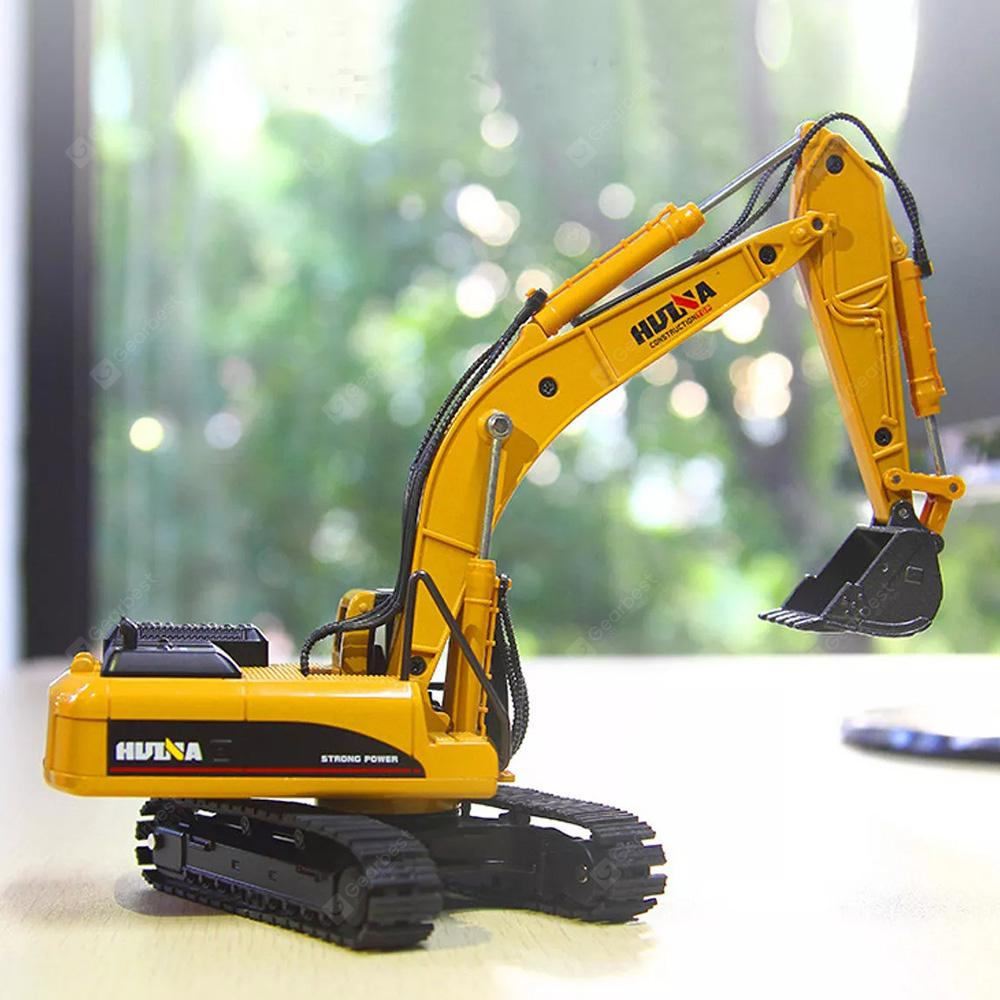 HUINA 1:50 Excavator Diecast Model Kid's Toy - Pumpkin Orange