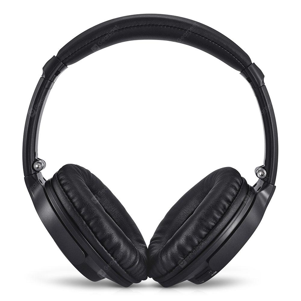 Alfawise JH - 803 Folding Stereo Bluetooth Headphones with FM Radio / Mic - Carbon Gray
