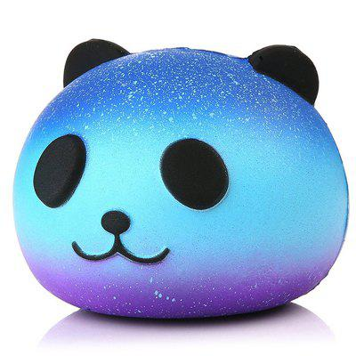 Slow Rebound Starry Panda Head Squishy Toy