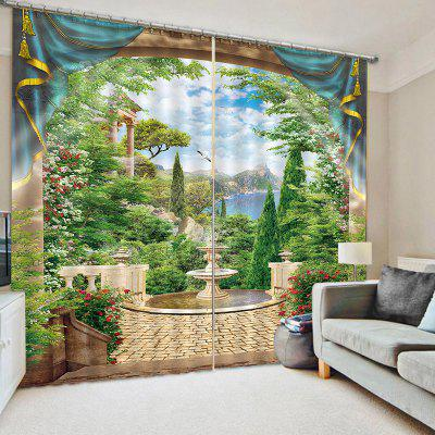 Beautiful 3D Landscape Curtain