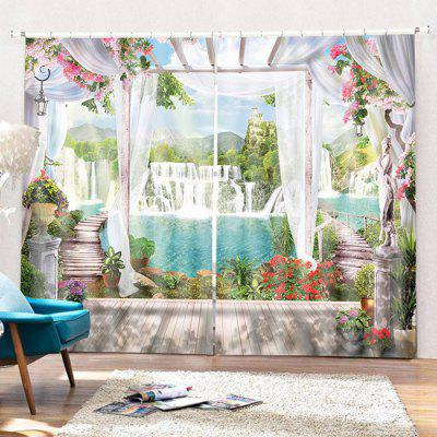 Home Decoration 3D Waterfall Curtain