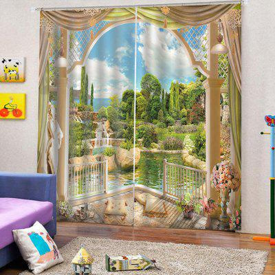 3D Landscape Curtain for Home Use