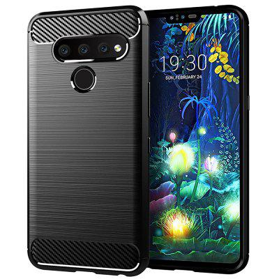 leeHUR Carbon Fiber TPU Phone Case for LG V50 ThinQ