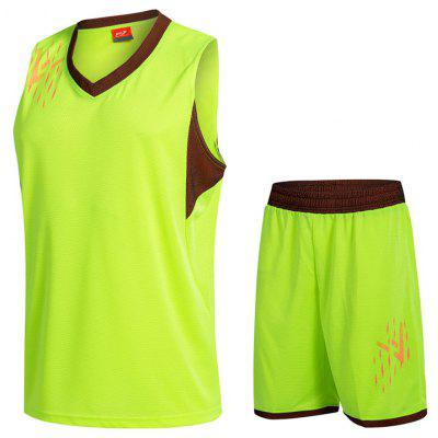 Men's Vest Shorts Running Sports Training Suit Loose Quick-drying