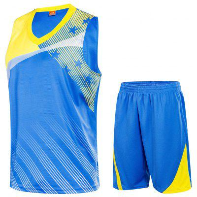Men's Vest Shorts Suit Loose Running Sports Training Breathable Quick-drying