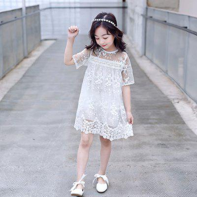 DX03259 Girls Lace Cutout Dress