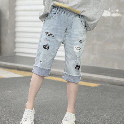 XJQ1913 Girl Hole Casual Jeans