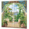 Beautiful 3D Landscape Curtain - CLOVER GREEN