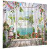 Home Decoration 3D Waterfall Curtain - MACAW BLUE GREEN