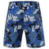 Men's Sports Camouflage Printed Casual Shorts Breathable - NAVY CAMOUFLAGE