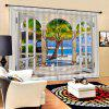 3D Sunny Beach Curtains for Home Use - MULTI-A
