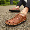 Men's Fashion Holes Casual Sandals Lace-up - MARRONE