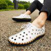 Men's Fashion Holes Casual Sandals Lace-up - WHITE