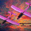 Foam Hand Throwing Roundabout Airplane Model - TYRIAN PURPLE