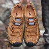 Men's Full Grain Leather Lace-up Casual Shoes Anti-collision Toe - CARAMEL
