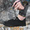 Men's Full Grain Leather Lace-up Casual Shoes Anti-collision Toe - BLACK