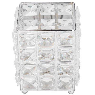 Metal Makeup Brush Crystal Storage Box