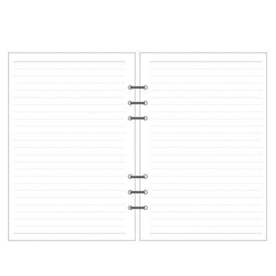 A7 High Quality Ring Binder Notebook Inner Core Insert Refills 6 Holes Loose Leaf Spiral Diary Planner