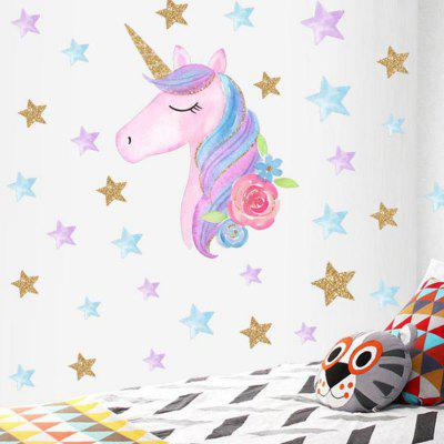 Creative Unicorn Love Star Wall Sticker Living Room Decoration