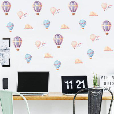 PD006 Colorful Hot Air Balloon Creative Decorative Wall Sticker