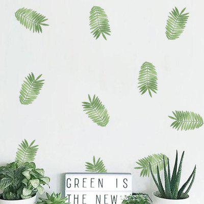 Tropical Green Plant Wall Sticker Party Decoration 6pcs