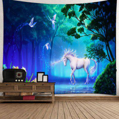 Dream Forest Unicorn Tapestry