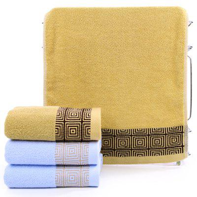 jlh005 Household Plaid Towel 3pcs