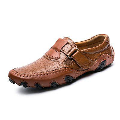 Men's Solid Color Business Casual Shoes Hook / Loop