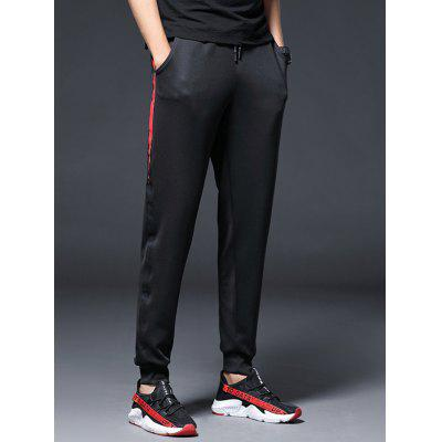 Men's Slim Casual Sports Pants with Strap
