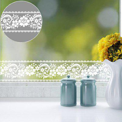 Lace Window Glass Sticker Door Shop Decoration