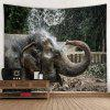 Fashion Elephant Home Decoration Tapestry - GRAY