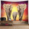 Elephant Home Decoration Tapestry - YELLOW
