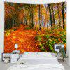 Maple Leaf Pattern Home Decoration Tapestry - PAPAYA ORANGE