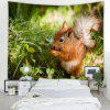 Cute Squirrel Pattern Home Decoration Tapestry - AVOCADO GREEN