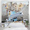 Home Airplane Pattern Tapestry - WHITE