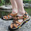 Men's Soft Bottom Hollow Out Casual Sandals Anti-collision Toe - BROWN