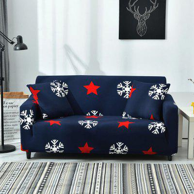 4018761 Simple Snowflake Print Sofa Cover