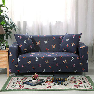 4018713 Butterfly Printed Sofa Cover