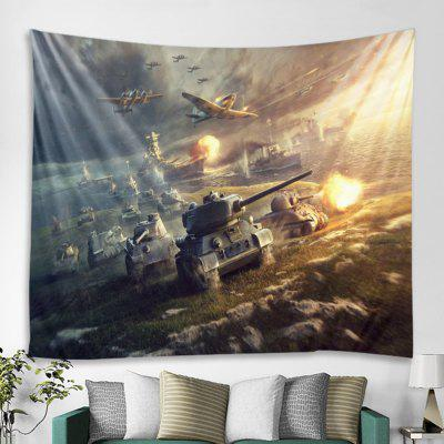 Creative Airplane Cannon Tapestry Home Decoration