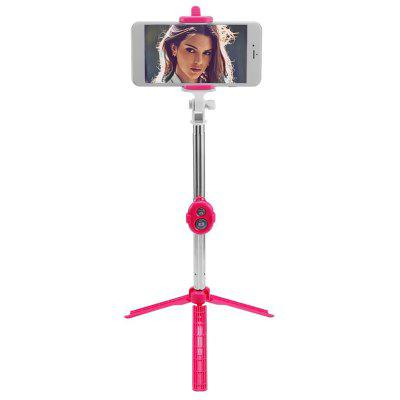 3 In 1 Bluetooth Wireless Selfie Stick Mini Tripod with Remote Control for iPhone 7 / 8 / 6S Plus