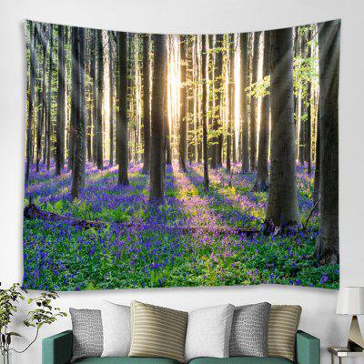 Simple Forest Pattern Tapestry