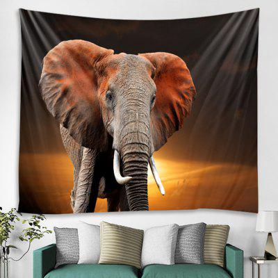 Creative Elephant Sunset Tapestry Home Decoration