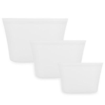 Household Practical Silicone Storage Bowl / Cup / Bag 3pcs