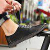 Men's British Style Outdoor Fashion Lace-up Casual Shoes - BLACK