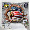 Car Wall Pattern Tapestry - RED